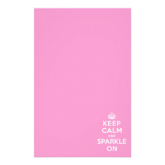 Keep Calm and Sparkle On Stationery Design