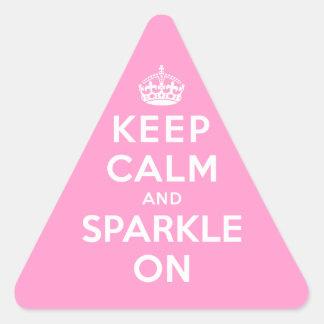 Keep Calm and Sparkle On Triangle Sticker