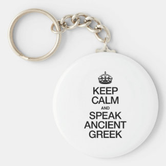 KEEP CALM AND SPEAK ANCIENT GREEK KEYCHAIN