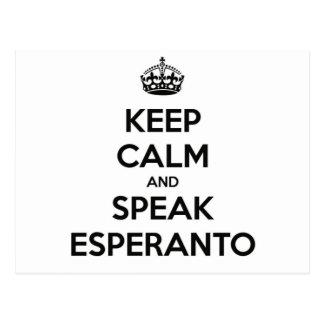 KEEP CALM AND SPEAK ESPERANTO POSTCARD