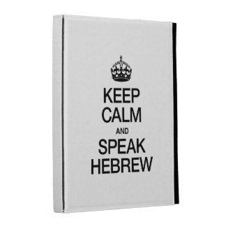KEEP CALM AND SPEAK HEBREW iPad CASES