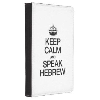 KEEP CALM AND SPEAK HEBREW KINDLE 4 CASE