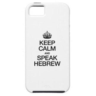 KEEP CALM AND SPEAK HEBREW iPhone 5 CASE