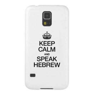 KEEP CALM AND SPEAK HEBREW GALAXY S5 CASES