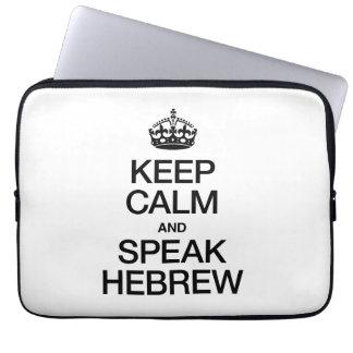KEEP CALM AND SPEAK HEBREW LAPTOP COMPUTER SLEEVES