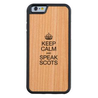 KEEP CALM AND SPEAK SCOTTISH GAELIC CARVED® CHERRY iPhone 6 BUMPER CASE