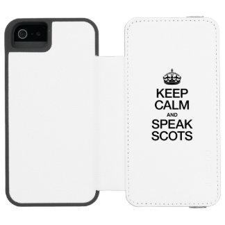 KEEP CALM AND SPEAK SCOTTISH GAELIC INCIPIO WATSON™ iPhone 5 WALLET CASE