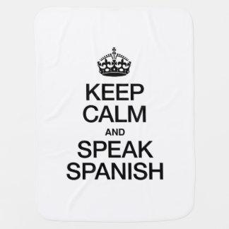 KEEP CALM AND SPEAK SPANISH BUGGY BLANKET