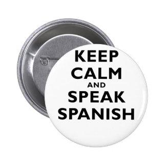Keep Calm and Speak Spanish Button