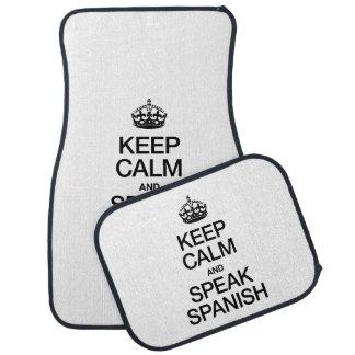 KEEP CALM AND SPEAK SPANISH FLOOR MAT