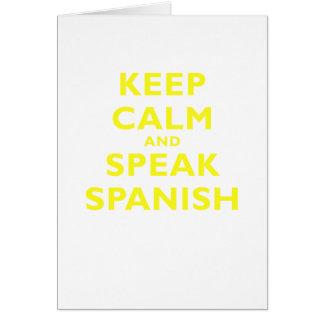 Keep Calm and Speak Spanish Greeting Card