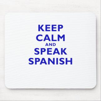 Keep Calm and Speak Spanish Mousepad