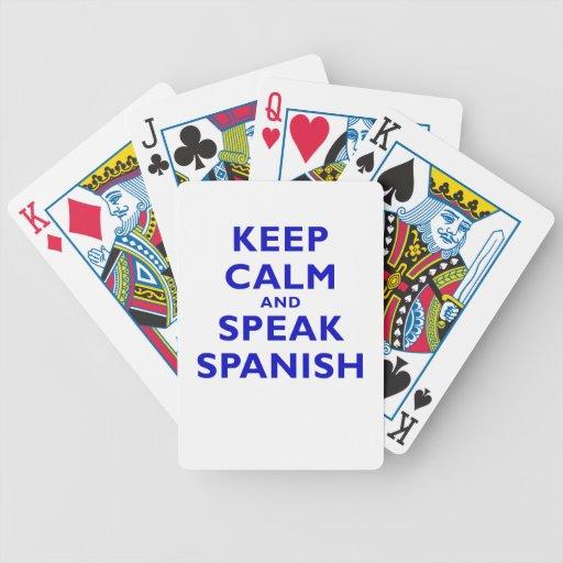 Keep Calm and Speak Spanish Card Deck