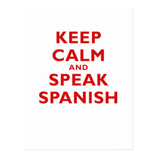 Keep Calm and Speak Spanish Postcards