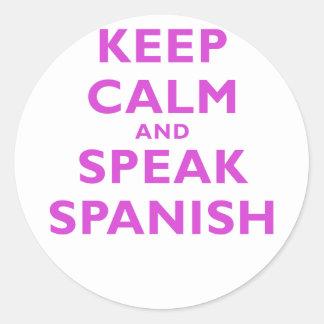 Keep Calm and Speak Spanish Stickers