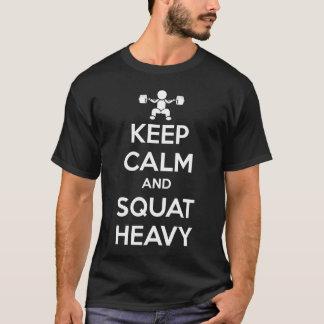 Keep Calm and Squat Heavy - Dark Shirt
