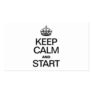 KEEP CALM AND STARE BUSINESS CARDS