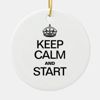 KEEP CALM AND STARE CHRISTMAS TREE ORNAMENT