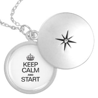KEEP CALM AND STARE ROUND LOCKET NECKLACE