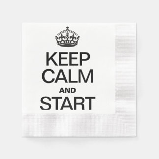KEEP CALM AND STARE PAPER NAPKIN