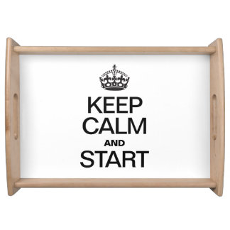 KEEP CALM AND STARE SERVICE TRAY