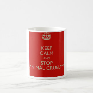 Keep Calm and Stop Animal Cruelty Basic White Mug