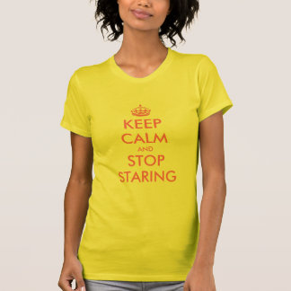 Keep Calm and stop staring | Cute Women's tank top