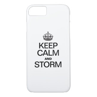 KEEP CALM AND STORM iPhone 8/7 CASE