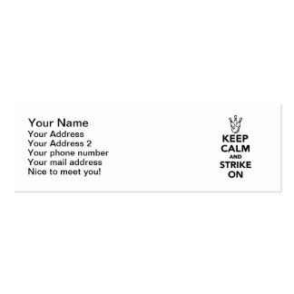 Keep calm and strike on Bowling Business Card Templates