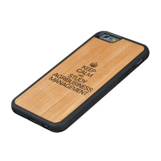 KEEP CALM AND STUDY AGRIBUSINESS MANAGEMENT CHERRY iPhone 6 BUMPER