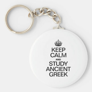 KEEP CALM AND STUDY ANCIENT GREEK KEYCHAINS