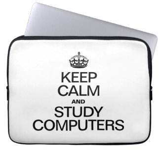 KEEP CALM AND STUDY COMPUTERS LAPTOP SLEEVE