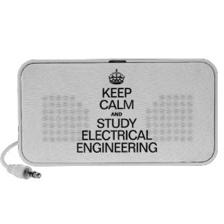 KEEP CALM AND STUDY ELECTRICAL ENGINEERING iPod SPEAKERS