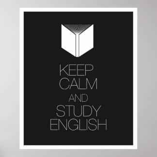 Keep Calm and Study English Poster