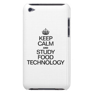 KEEP CALM AND STUDY FOOD TECHNOLOGY iPod TOUCH CASE