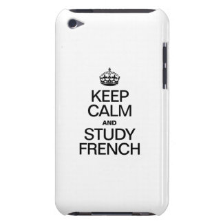KEEP CALM AND STUDY FRENCH iPod Case-Mate CASES