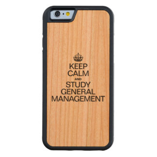 KEEP CALM AND STUDY GENERAL MANAGEMENT CHERRY iPhone 6 BUMPER CASE