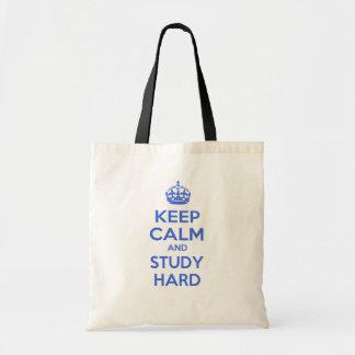 Keep Calm and Study Hard Tote Bag