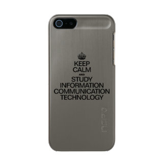 KEEP CALM AND STUDY INFORMATION COMMUNICATION TECH INCIPIO FEATHER® SHINE iPhone 5 CASE