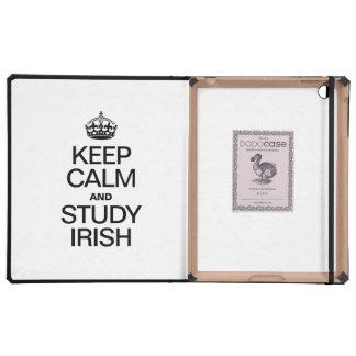 KEEP CALM AND STUDY IRISH COVERS FOR iPad