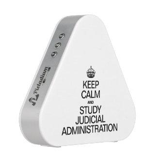 KEEP CALM AND STUDY JUDICIAL ADMINISTRATION BLUETOOTH SPEAKER
