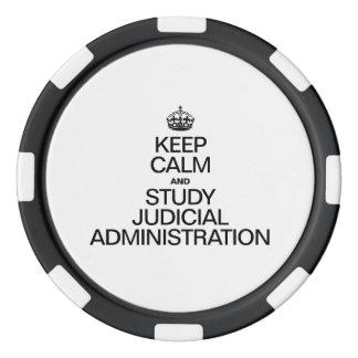 KEEP CALM AND STUDY JUDICIAL ADMINISTRATION POKER CHIP SET