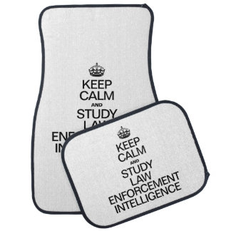 KEEP CALM AND STUDY LAW ENFORMENT INTELLIGENCE FLOOR MAT