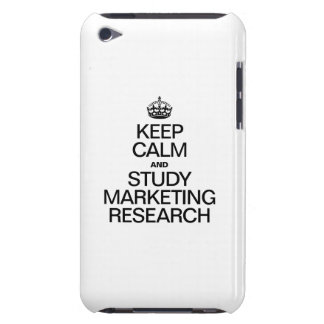 KEEP CALM AND STUDY MARKETING RESEARCH iPod TOUCH Case-Mate CASE