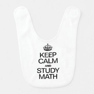 KEEP CALM AND STUDY MATH BABY BIBS