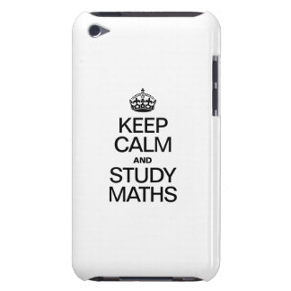 KEEP CALM AND STUDY MATHS iPod TOUCH CASE