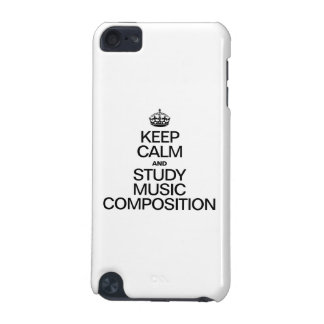 KEEP CALM AND STUDY MUSIC COMPOSITION iPod TOUCH (5TH GENERATION) CASE