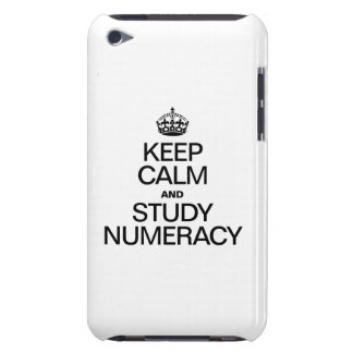 KEEP CALM AND STUDY NUMERACY BARELY THERE iPod CASE