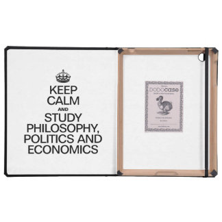KEEP CALM AND STUDY PHILOSOPHY POLITICS AND ECONOM iPad CASE