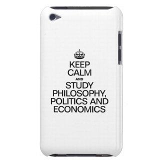 KEEP CALM AND STUDY PHILOSOPHY POLITICS AND ECONOM iPod Case-Mate CASE